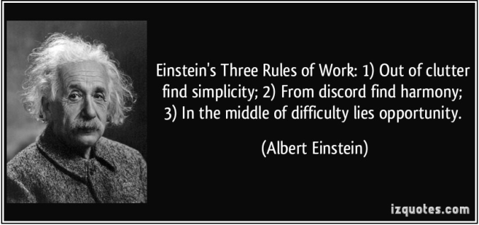 Einsteing Three Rules of Work